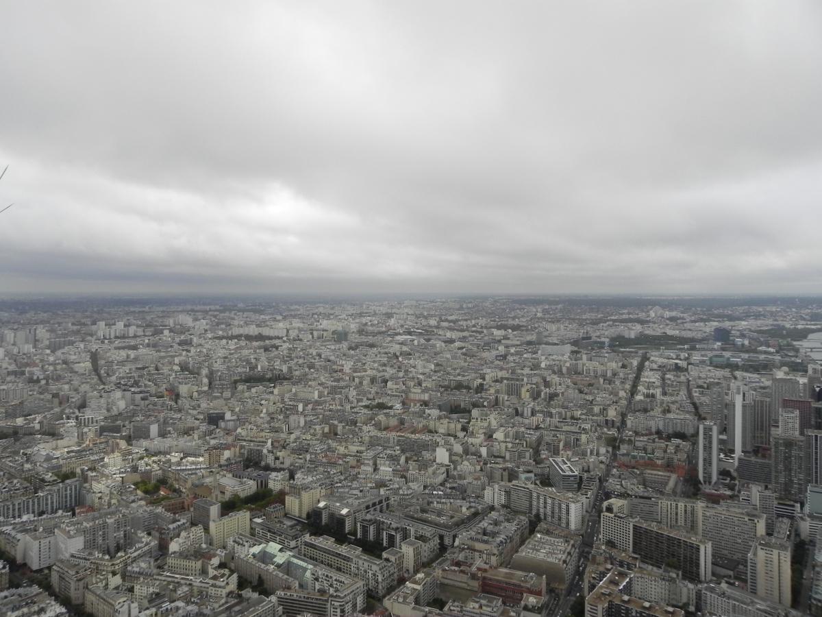 Paris - Blick vom Eiffelturm (Innenstadt Richtung Porte d´Orleans)