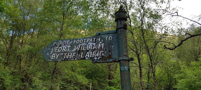 Von Kinlochleven nach Fort William, oder: Mindestens 2 Wege führen zum Ziel