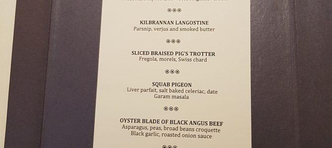 Dinner in Leith