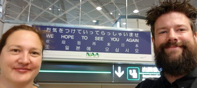 Der neu geplante Rückflug nach Hause
