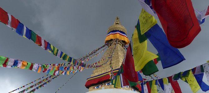 Augen in alle Richtungen in Bouddhanath